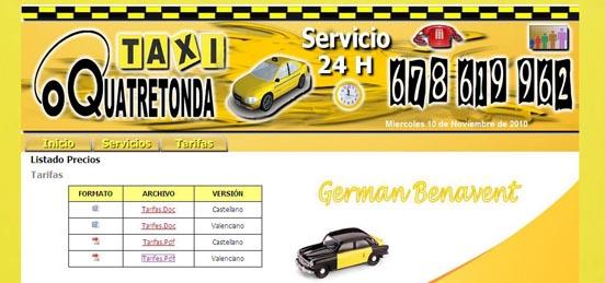 Servei de taxi a Quatretonda les 24 H. del dia…