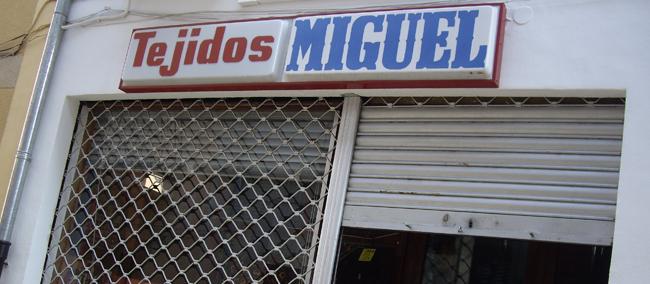 LLocs amb encant : » Tejidos Miguel «