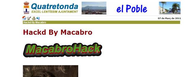 hackejada la web del nostre poble www.quatretonda.org