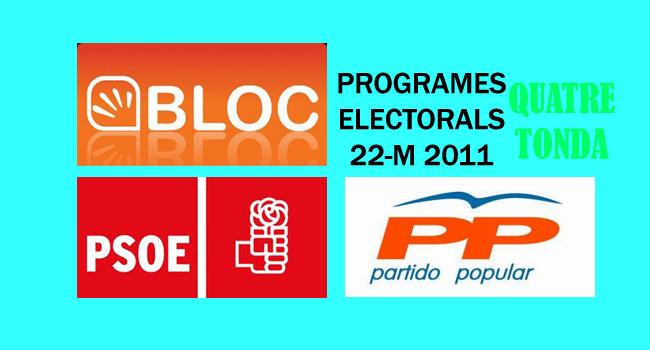 Programes electorals municipals 22-M