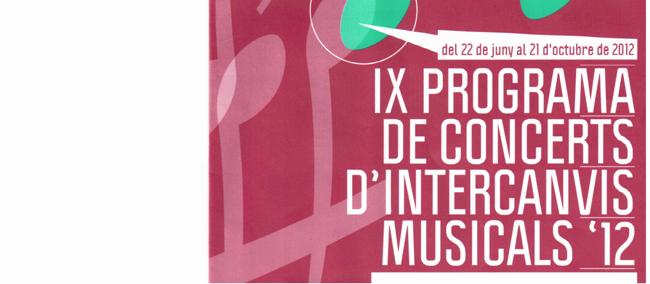 IX programa de concerts d'intercanvis musicals '12