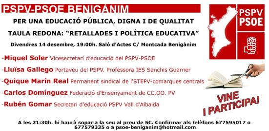 «RETALLADES I POLÍTICA EDUCATIVA»