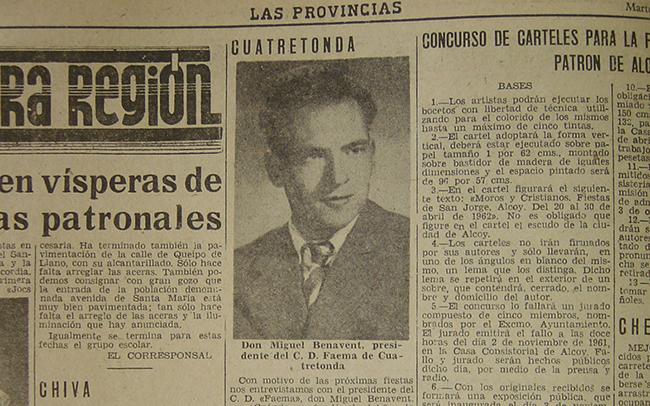 ENTREVISTA AL PRESIDENT DE «FAEMA» ANY 1961