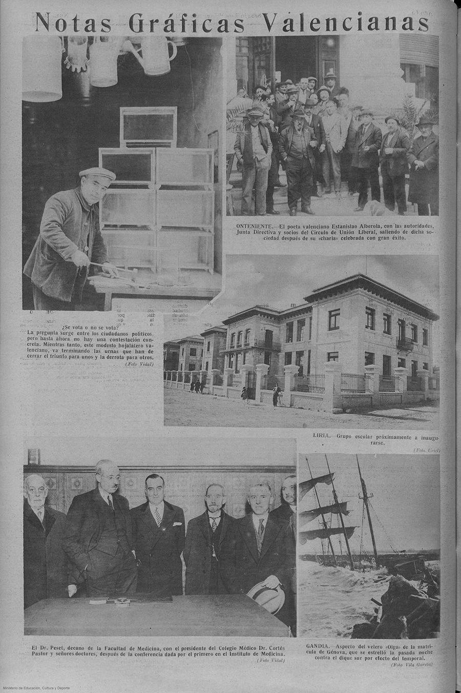 ESTANISLAU ALBEROLA :DOCUMENTS PER A UN ESTUDI (IV) (foto L.P. 07.02.1931)