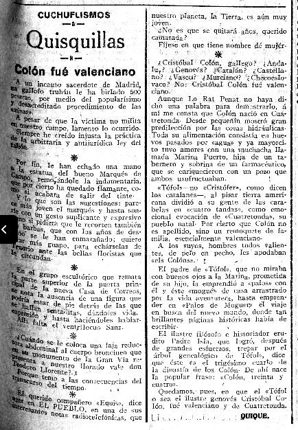 QUATRETONDA I COLÓN AMB HUMOR PERIODISTIC