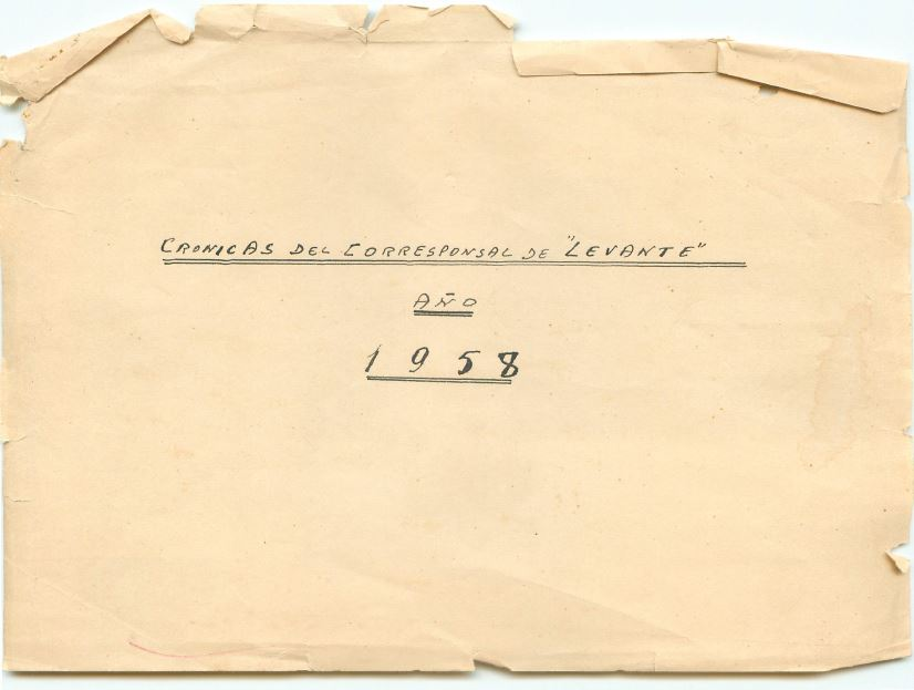 CRÒNIQUES DE JOSÉ ALONSO.ANY DE 1.958.