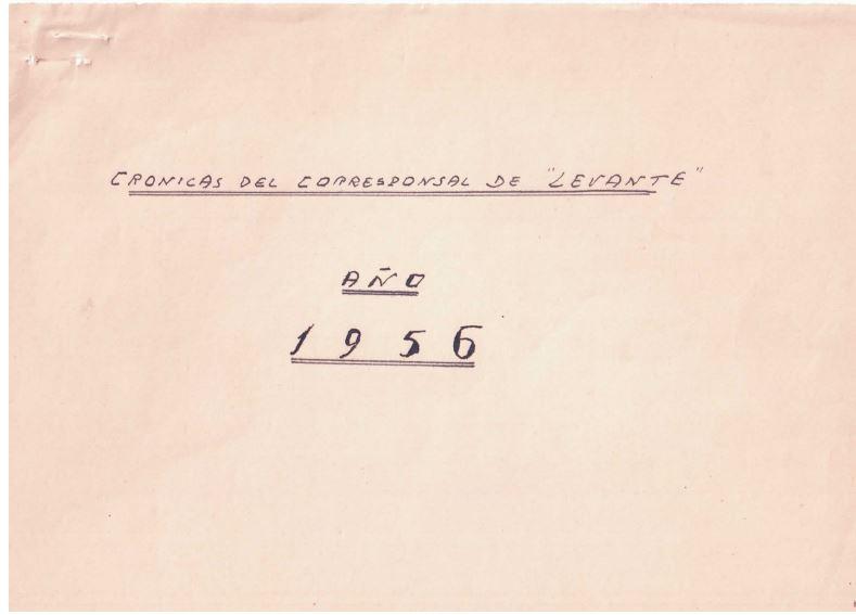 CRÒNIQUES DE JOSÉ ALONSO DE l'ANY 1956.
