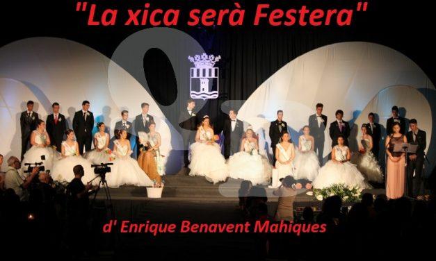 """""""LA XICA SERÀ FESTERA"""" d' Enrique Benavent Mahiques"""