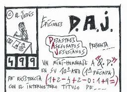 Ediciones D.A.J (DESASTRES ASEGURADOS JESUSIANOS) NÚM.499