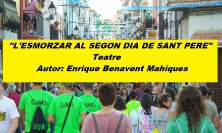«L'ESMORZAR EL SEGON DIA DE SANT PERE» de Enrique Benavent Mahiques