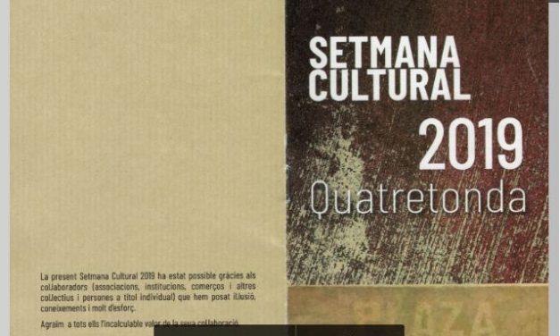 PROGRAMA SETMANA CULTURAL 2019
