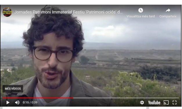 """""""JORNADES AL VOLTANT DEL PATRIMONI IMMATERIAL FESTIU DE LA VALL D'ALBAIDA"""""""
