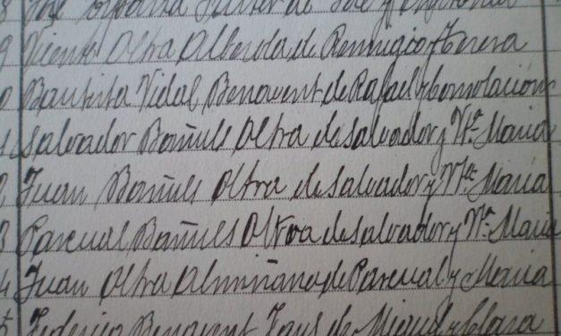 ARTÍCULOS BREVES (8 de 10:TRILLIZOS EN QUATRETONDA EN 1.895)