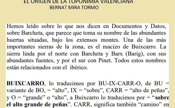 ELS NOSTRES NOMS:EL BOSCARRÓ.PART 2.